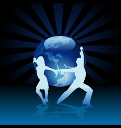 world latino dance vector image