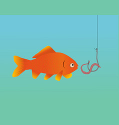 A fish being catched vector