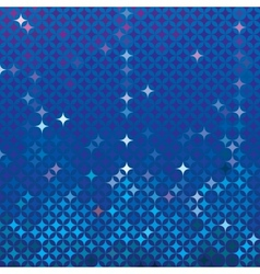 Abstract mosaic in royal blue vector
