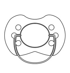 Baby pacifier the black color icon vector