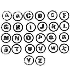 Basic rubber stamp alphabet vector