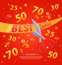 best sale banner original concept discount poster vector image vector image