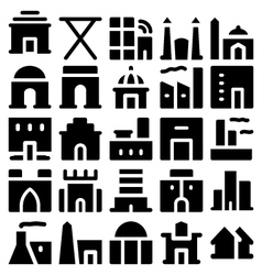 Building and Furniture Icons 4 vector image vector image
