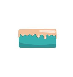 Cake icon flat vector