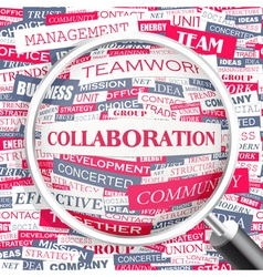 COLLABORATION vector image