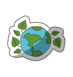 Ecology earth icon stock vector