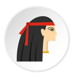 Egyptian princess icon circle vector