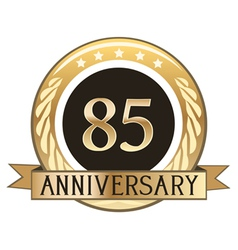 Eighty Five Year Anniversary Badge vector image vector image