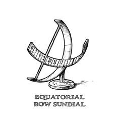 Cylindrical sundial royalty free vector image vectorstock equatorial bow sundial vector image pronofoot35fo Choice Image