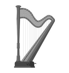 Harp icon gray monochrome style vector