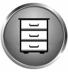 Icon bookcase vector