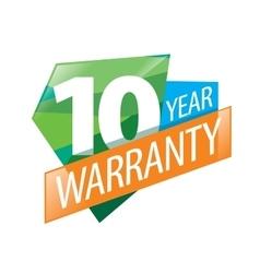 Logo 10 years warranty vector