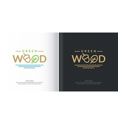Logo green wood vector image vector image