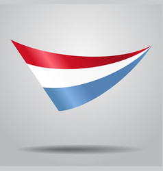 luxembourg flag background vector image vector image