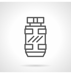 Masculine scent black line icon vector