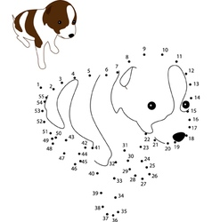 Puppy dot2dot vector image