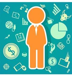 Salary icons theme vector