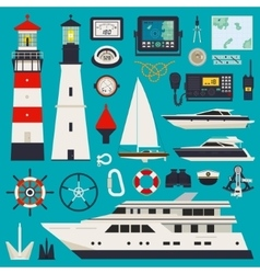 Ships - yachts equipment vector