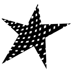 Star original grunge vector