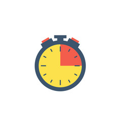 timer icon vector image vector image