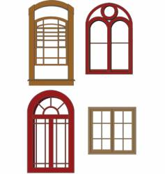 traditional windows vector image vector image
