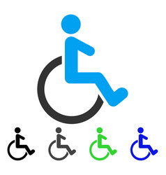 Wheelchair flat icon vector