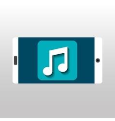 White smartphone music network digital vector
