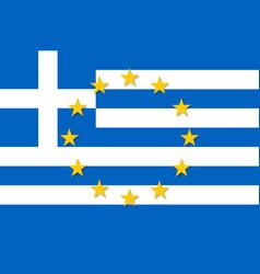 Greece national flag with a star circle of eu vector