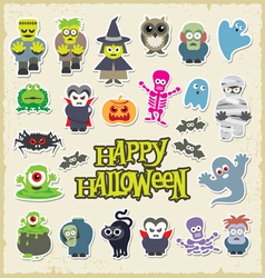 Halloween party icon design set vector image