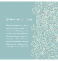 Sea wave background with copyspace vector