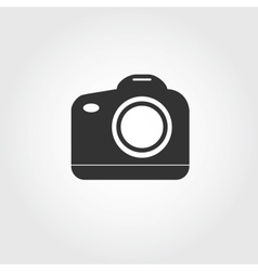 Reflex camera icon flat design vector
