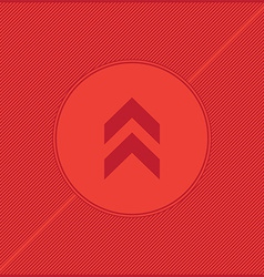 Arrow red background vector