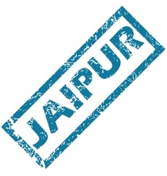 Jaipur rubber stamp vector