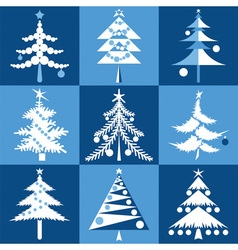 Fur trees vector