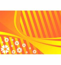 Spring orange background vector