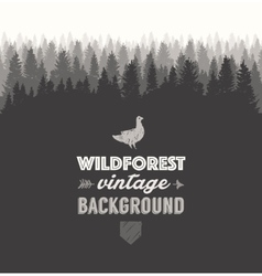 Pine forest template drawn vector image
