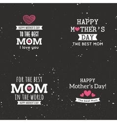 Mother day labels vector