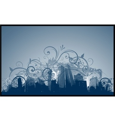 abstract city design vector image