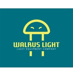 Abstract walrus face like led logo template for vector