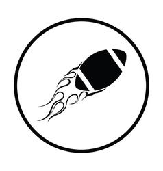 American football fire ball icon vector image
