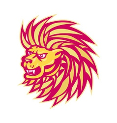 angry lion vector image vector image