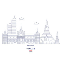 bangkok city skyline vector image