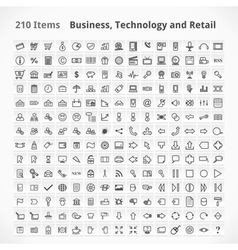 Business Technology and Retail Items vector image vector image