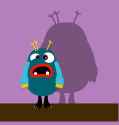 confuzed monster with shadow vector image
