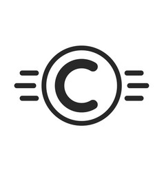 copyright symbol like intellectual property vector image