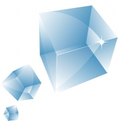 Glass cube vector