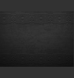 Grunge rough dark metal background with vector