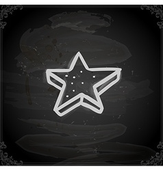 Hand Drawn Star Cookie vector image