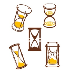 hourglass symbols vector image vector image