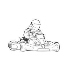 Karting vector image
